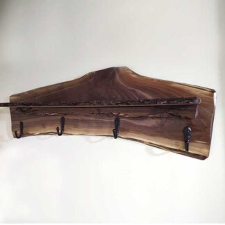 Walnut Coat Rack with shelf