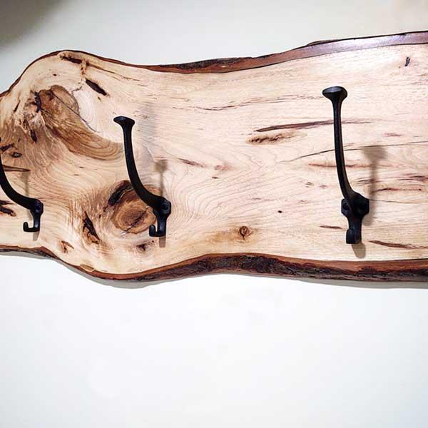 Rustic and More live edge wood coat racks