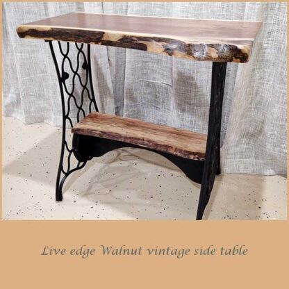 Walnut Vintage Side Table